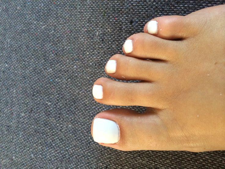 White shellac nails  White shellac toes Snow White