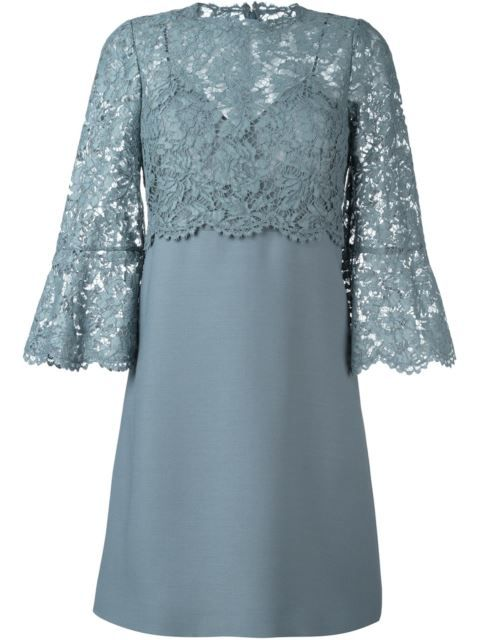VALENTINO Lace Crepe Couture Dress. #valentino #cloth #dress