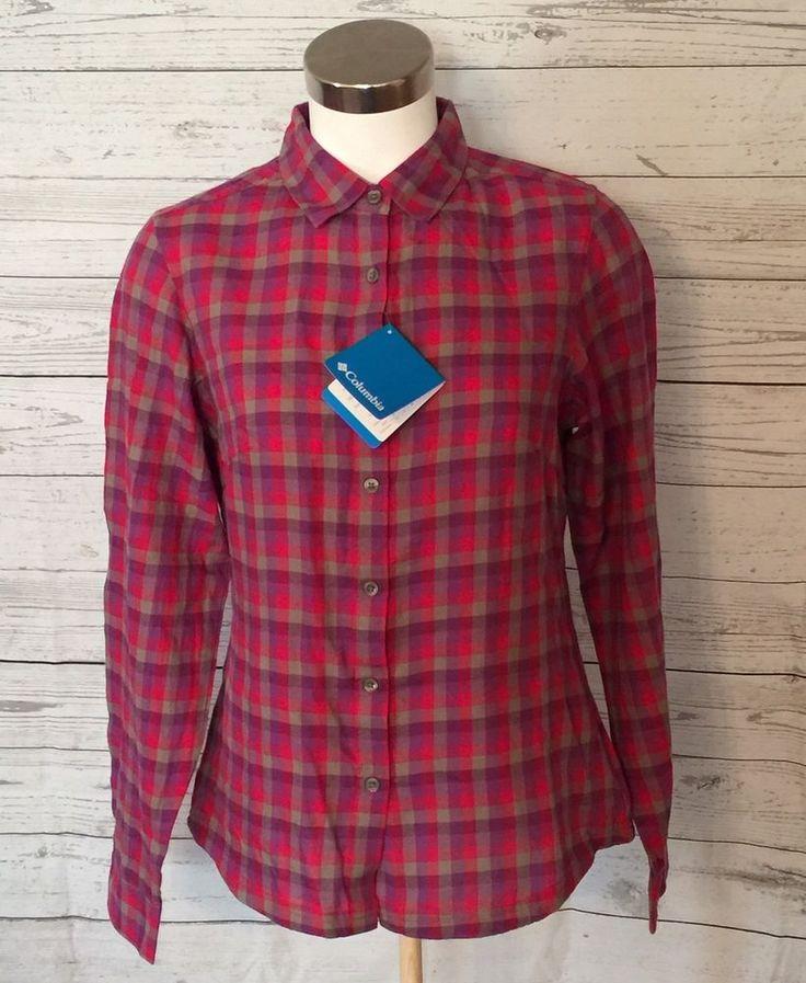 Women's Columbia Sportswear Long Sleeve Plaid Size S Shirt NWOT (K3)  | eBay