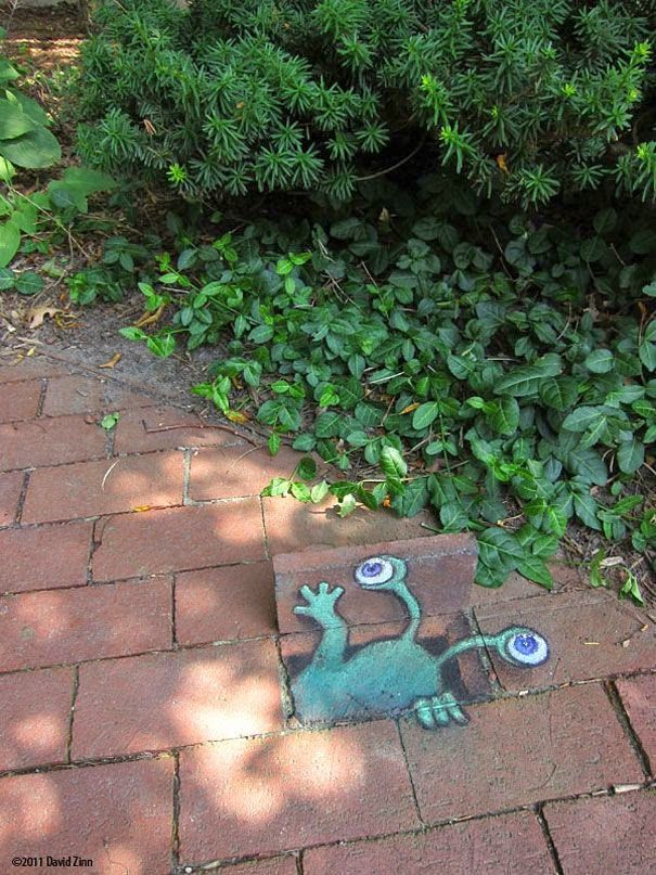 You Can Do Little Whimsical Surprises Around Every Corner Of Your Garden  TOO.just Like The WONDROUS Chalk Drawn Adventures Of Sluggo In His Street  Art.by ...