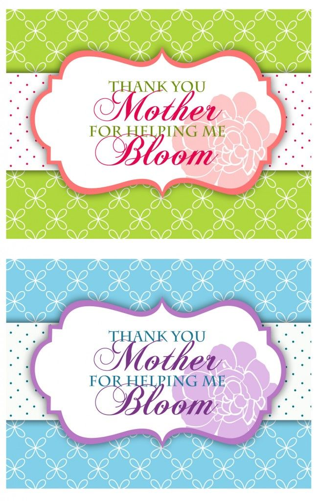 free printable mothers day thank you flower gift tag printables lollipop bouquet printable. Black Bedroom Furniture Sets. Home Design Ideas