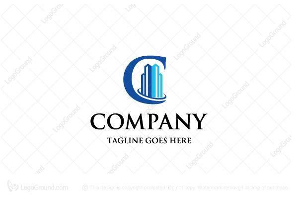 Logo for sale: C Real Estate Logo