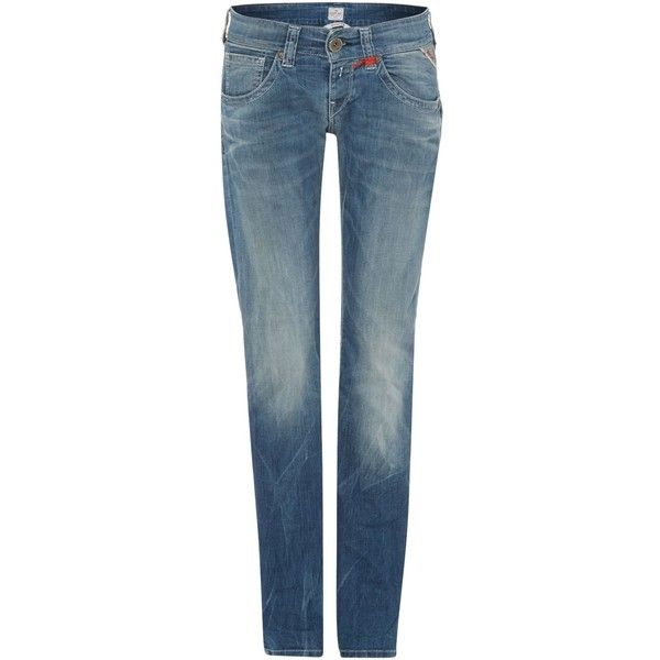 Replay New Swenfani Relaxed Fit Denim ($90) ❤ liked on Polyvore featuring jeans, denim, sale, relaxed fit jeans, replay jeans, blue denim jeans, denim jeans and relaxed jeans