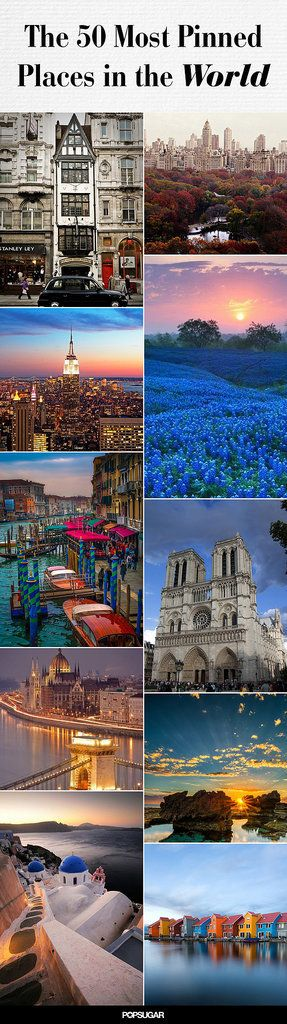 50 Most Pinned Awe-Inspiring Travel Spots