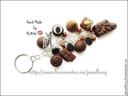 """Брелоки ручной работы. Ярмарка Мастеров - ручная работа. Купить Брелок """" Кофе и Шоколад - 2 """". Handmade. Коричневый"""