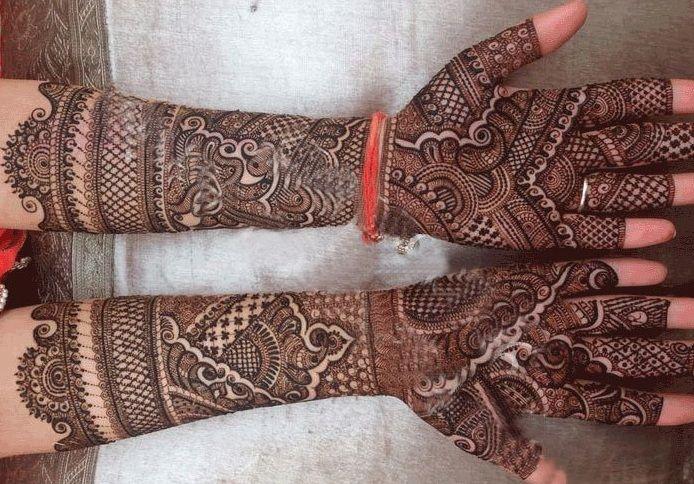bridal mehendi designs 5