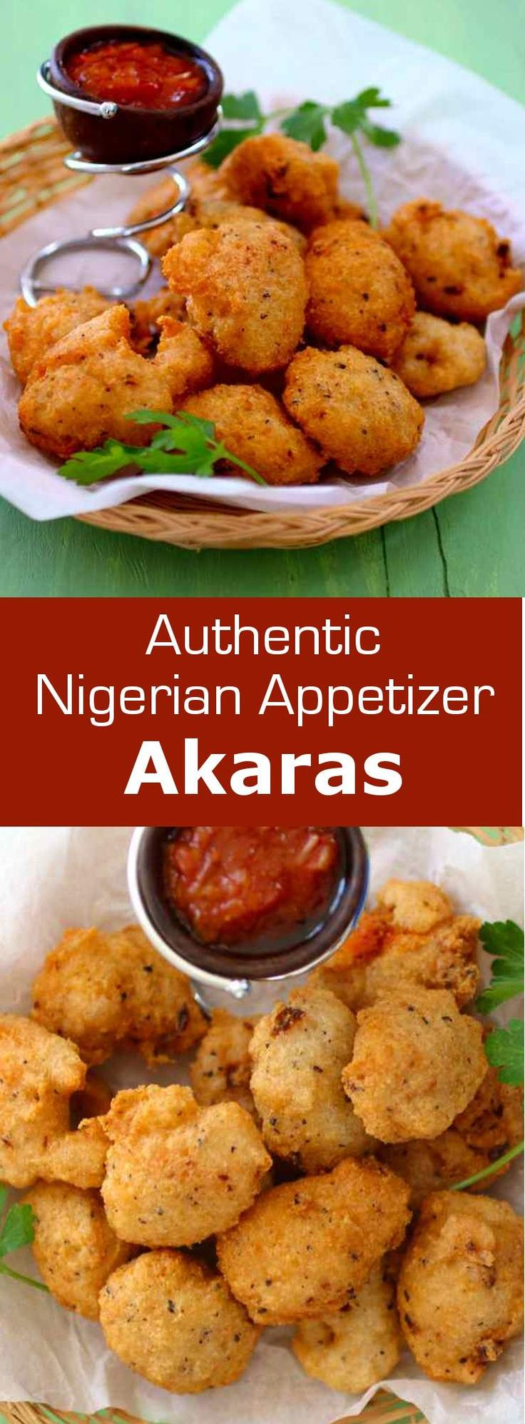 Akara is a delicious fried snack composed of black-eyed peas originally from Nigeria, but also popular throughout West Africa and Brazil.