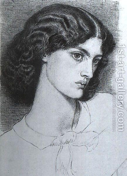 Д.Г.Росетти. Портрет Джейн Моррис. 1858