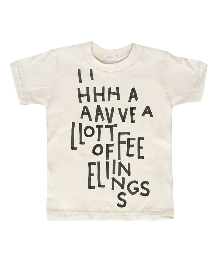 Kid + Kind White A Lot of Feelings Organic Tee - Toddler & Kids
