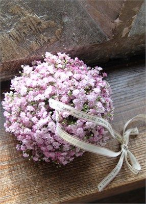 Pink Gypsophila Pomander - The Divine Flower Company so sweet! is pink gyp natural?