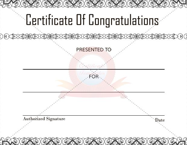 7 Best Images About Congratulation Certificate On Pinterest Free