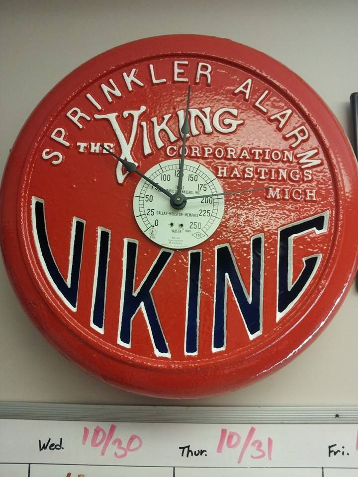best vintage fire sprinkler protection images  viking fire sprinkler alarm converted to clock
