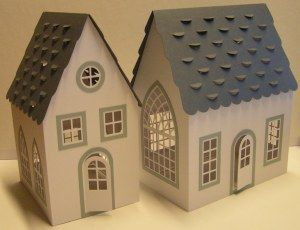 Houses, free cutting file for Silhouette Cameo. This site has beautiful paper cut designs for free!