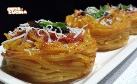 Ricetta Nidi Di Spaghetti Al Forno - Cuor di Cucina