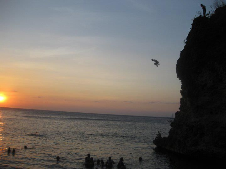 cliff jumping is more fun in the Philippines  (location unknown)