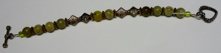 BaRb'n'ShEll Creations - Bracelets, Russian jade - BaRb