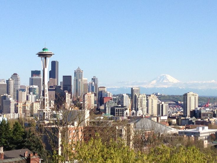 Kerry Park - has a great view of Seattle's skyline on a clear day, plus