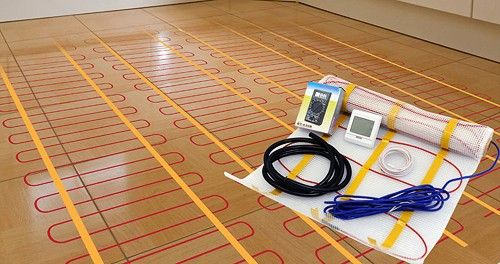 Vogue underfloor electric heating kit. 6 square meters heating mat. Only £284 at Taps4Less.