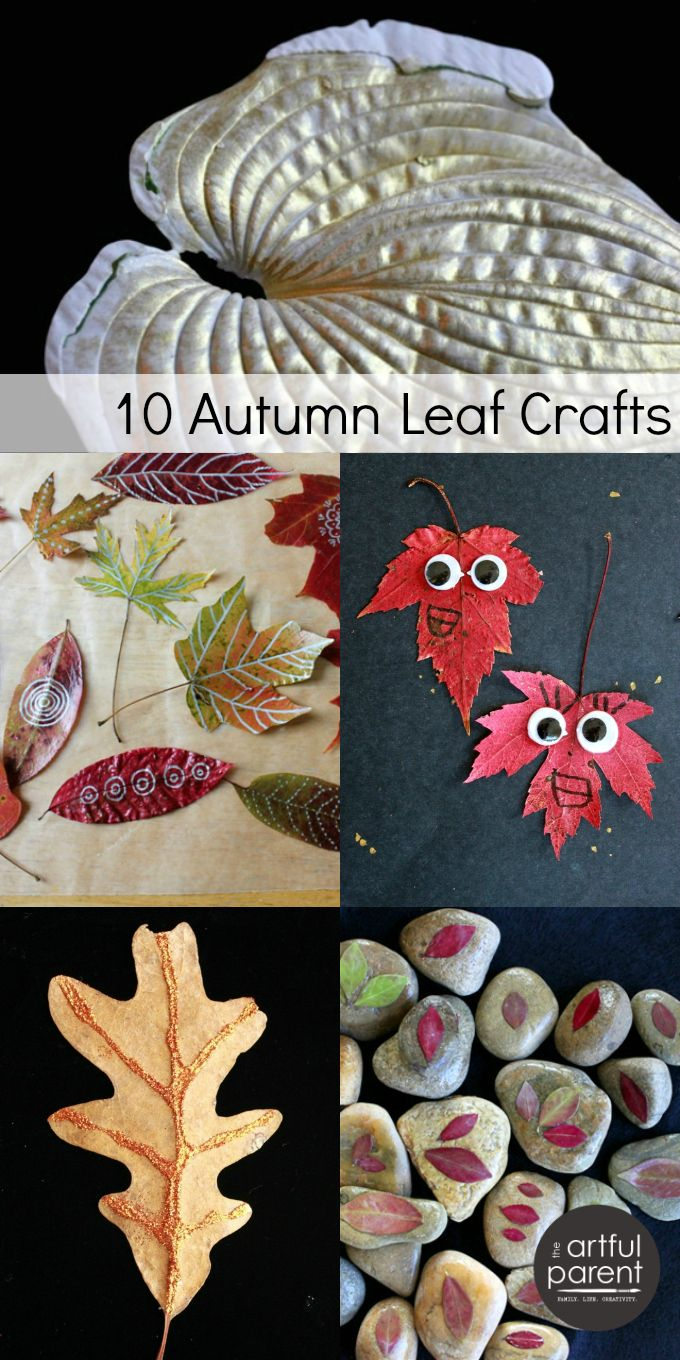 Fun fall leaf crafts for kids and adults!