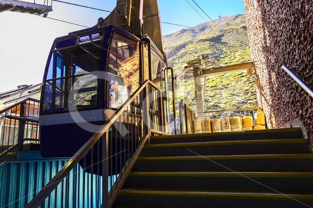 Qdiz Stock Images Cableway or Funicular Cabine on Platform