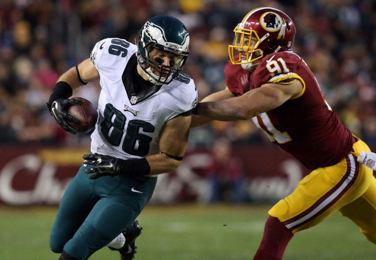 Eagles' Zach Ertz cleared by doctors following rib injury = Philadelphia Eagles' tight end Zach Ertz has been cleared by doctors as his displaced rib is now completely healed, according to Jeff McLane of the Philadelphia Inquirer.The fourth-year tight end has not played since.....