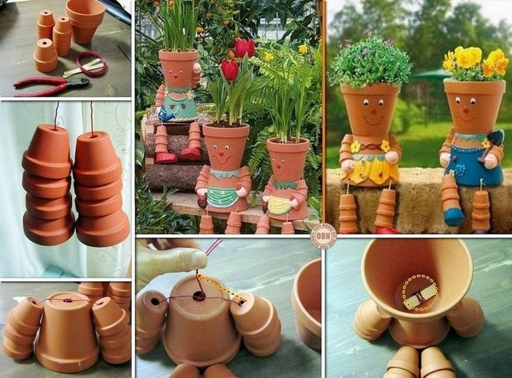 DIY Clay Pot Flower People ... great step-by-step instructions!