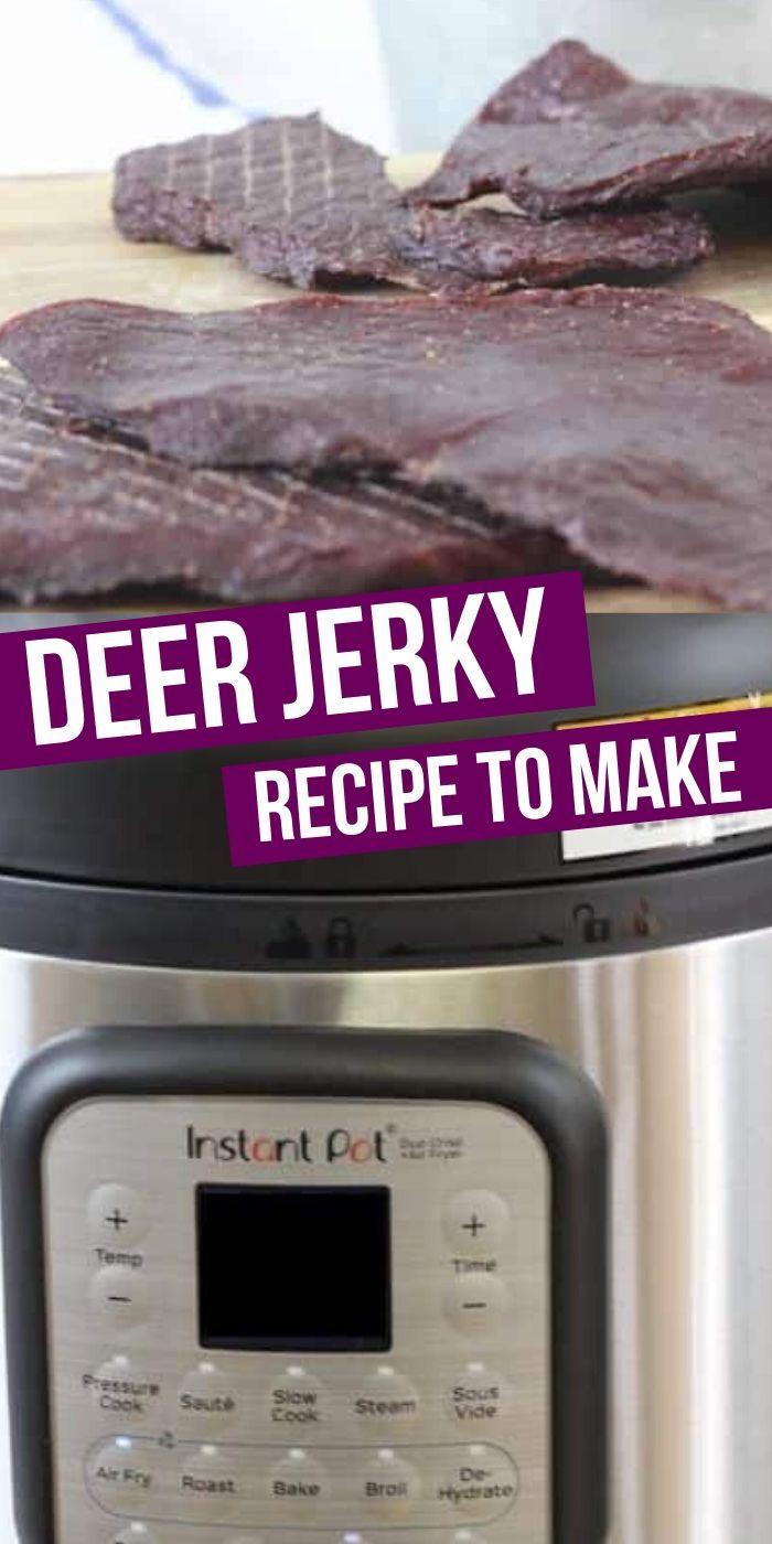 Deer Jerky made right in your Instant Pot Duo Crisp with