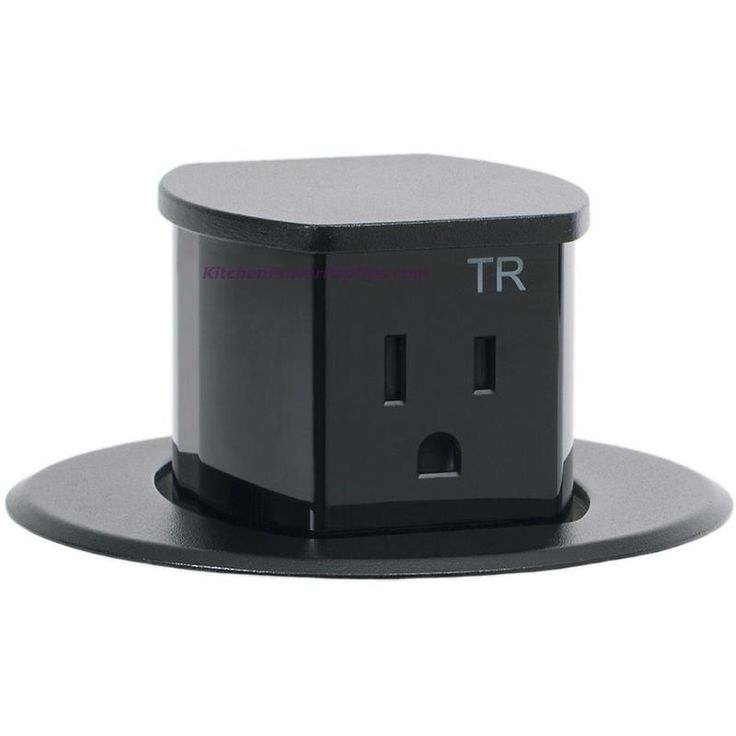 Hubbell RCT200BK Waterproof Dual Sided Pop Up Counter Outlet Black – Kitchen Power Pop Ups