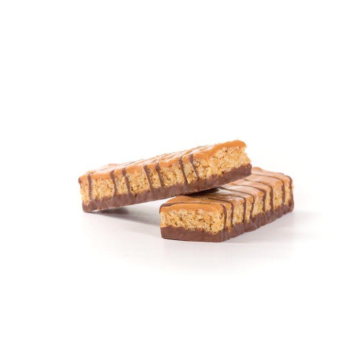 Barritas sabor caramelo Vegefast, ricas en proteínas y fibra, reducidas en hidratos de carbono y grasas.