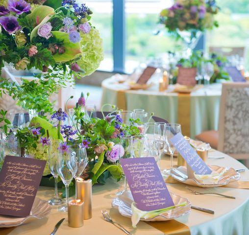 LUCIS(ルーキス)|結婚式場写真「華やかなテーブルコーディネートも思いのまま。ドレスに合わせたりイメージを伝えてみて」 【みんなのウェディング】