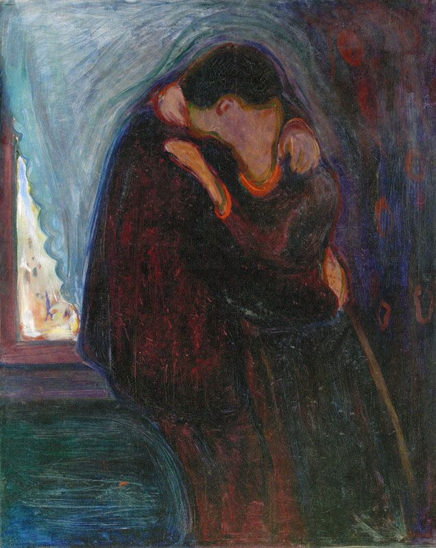 Edvard Munch. The Kiss 1897 99 x 81 cm Oil on canvas Signed and dated lower right: E. Munch 97 Munch-museet, Oslo