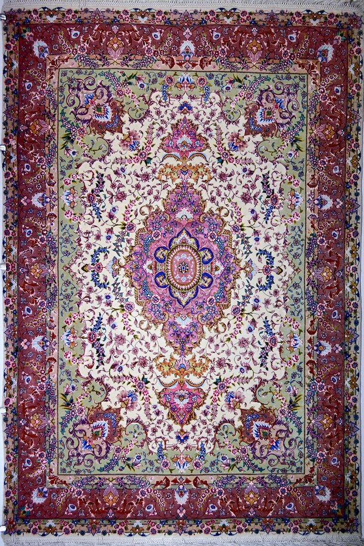 Tabriz Silk Persian Rug Cm X 150 Origin Foundation Material Wool Weave Hand Woven Age Brand New Kpsi