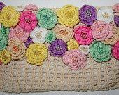 Flower Clutch, 100% handmade