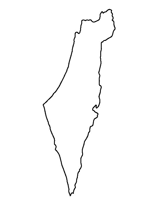 outline of israel