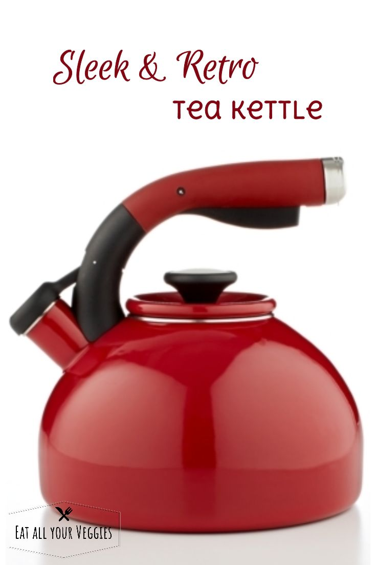A sleek profile and a timeless presence put this kettle right at home on your range. The large-capacity design, convenient squeeze-and-pour  handle with textured grip and melodic boil signal whistle make this  color-rich piece a have-to-have for tea time. #ad