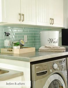 Love the color of subway tile for the kitchen.