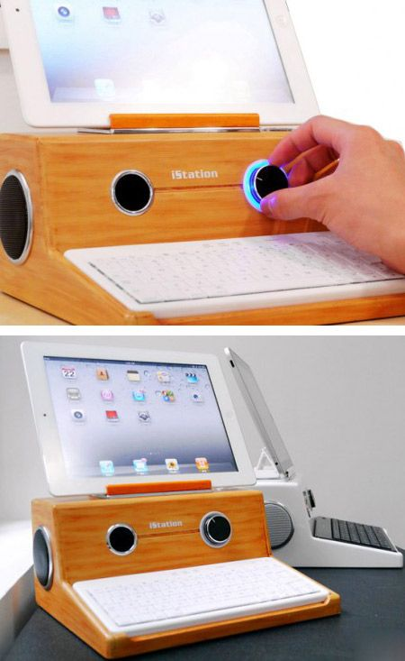 Designed to be compatible with an Apple iPhone, iStation iPad dock also offers direct MP3 playback from a USB flash drive or a microSD card. Other features include built-in stereo speakers with a subwoofer and a 3.5mm standard audio jack if you prefer to enjoy your favorite tunes or music alone without distracting others.