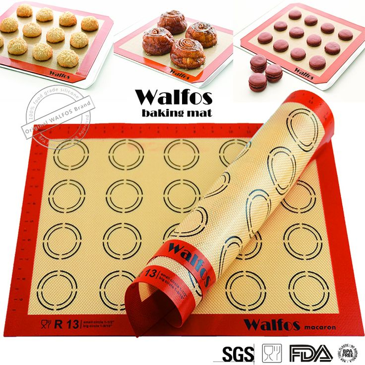 WALFOS Non-Stick Silicone Baking Mat Pad Sheet Baking pastry tools Rolling Dough Mat Large Size for Cake Cookie Macaron  Price: 6.32 USD