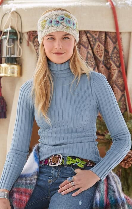 a69d08130 Keep warm and stylish in our rib knit turtleneck