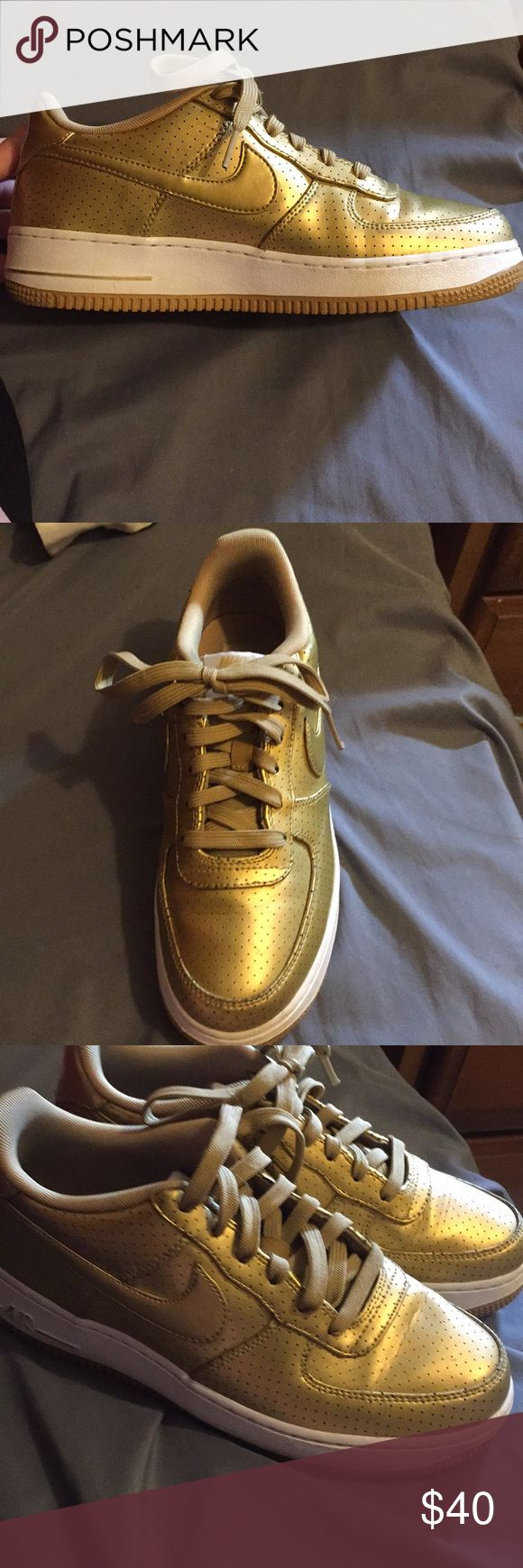 Shoes Gold 1992 Dream Team Air Force 1 Nike Shoes Sneakers