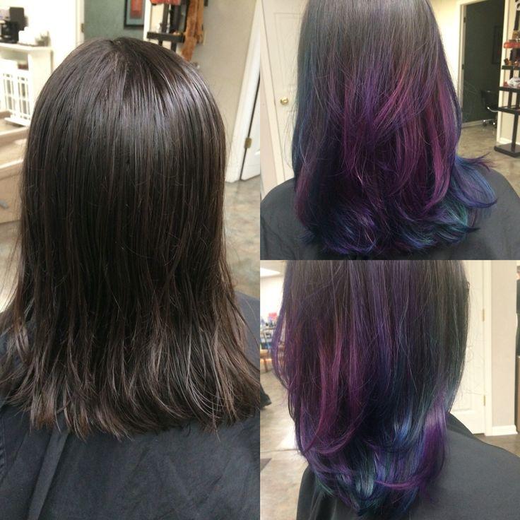 Beautiful Oil Slick Hair Creations Pinterest
