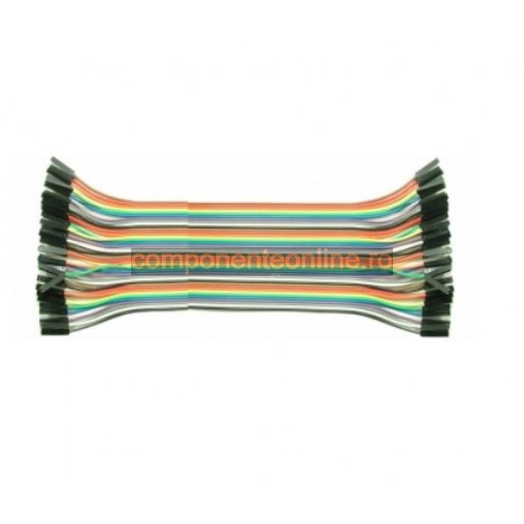 Cablu pentru teste, 40 fire, mama-mama, lungime 20cm - 128113