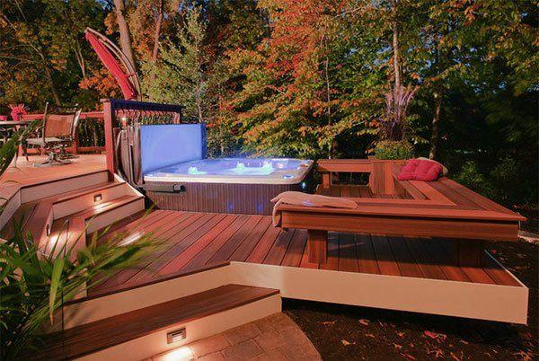 terrasse en bois ou composite id es merveilleuses pour l 39 ext rieur id es pour. Black Bedroom Furniture Sets. Home Design Ideas
