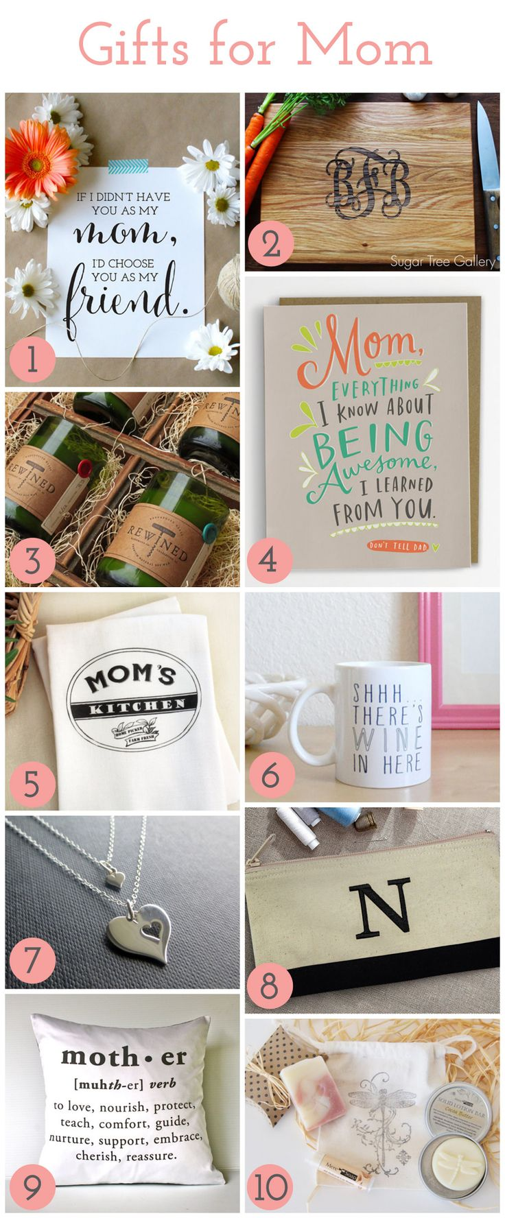 Best of Etsy: 10 Unique Mother's Day Gifts She Will Adore | http://jillianastasia.com/mothers-day-gifts/