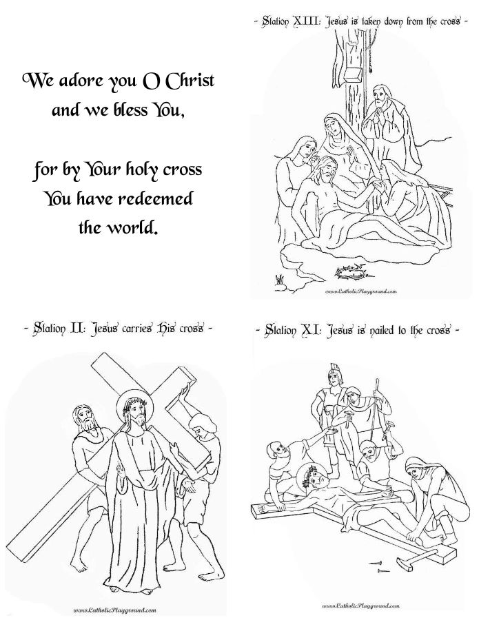 It is a photo of Insane Printable Stations of the Cross