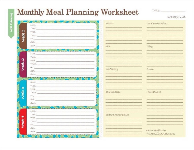 Best 25+ Monthly Menu Planner Ideas On Pinterest | Monthly Meal