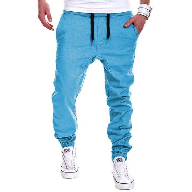 2017 New Fashion Men Cross Pants Tether Casual Loose Jogger Pants Solid Leisure Men Sweatpants Joggers M-3XL