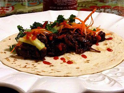 Crockpot Korean Short Rib Tacos | savory | Pinterest