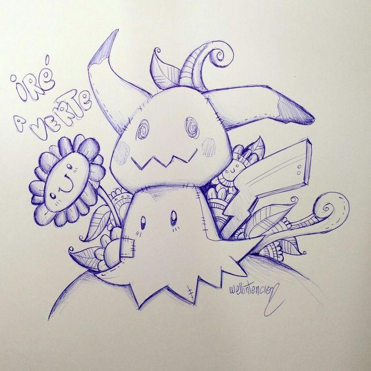 Mimikyu #pokemon #sun #moon #doodle #art #sketch #challenge