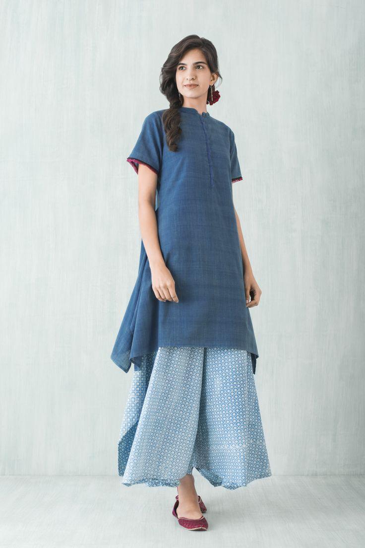 Goodearth Ruhani Khadi Dress Jaali Bali Pant